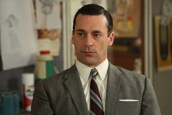 Don Draper (Jon Hamm) - Mad Men - Season 6, Episode 7 - Man With A Plan - Photo Credit: Michael Yarish/AMC