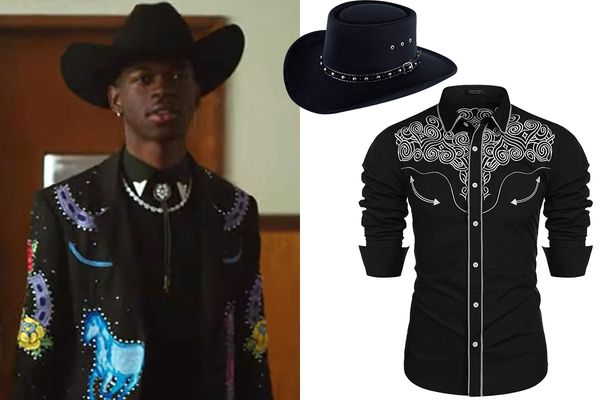 COOFANDY Slim Fit Embroidered Cowboy Casual Button Down Shirt
