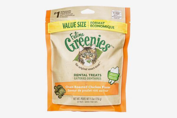 Greenies Feline Oven Roasted Chicken Flavor Dental Cat Treats, 9.75-oz
