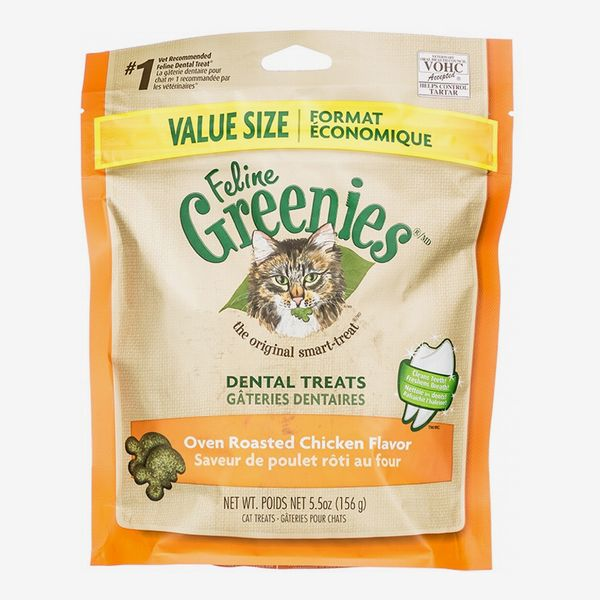 Greenies Feline Oven Roasted Chicken Flavor Dental Cat Treats, 9.75-oz