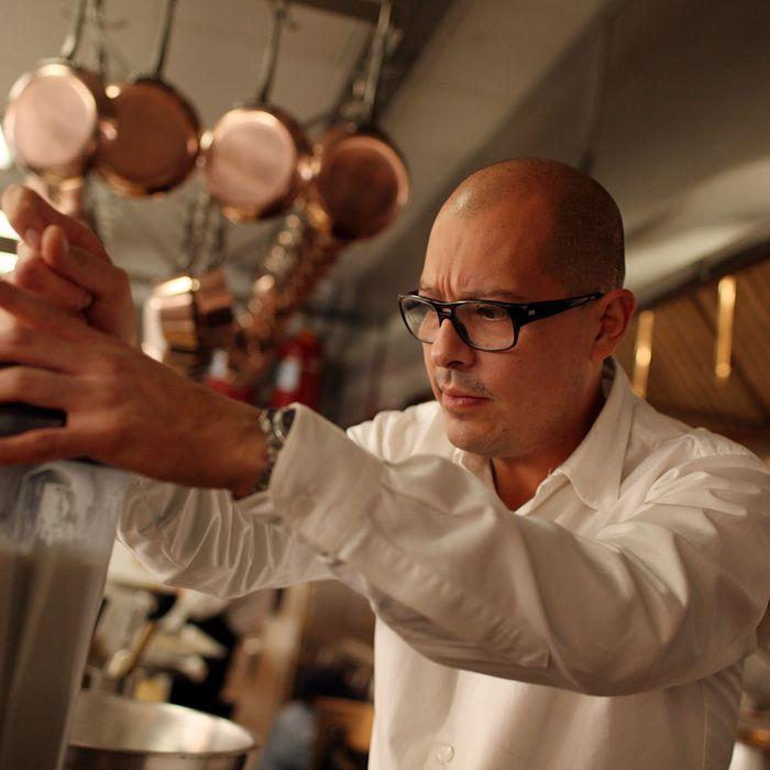 César Ramirez in his kitchen.