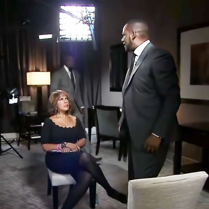 Gayle King and R. Kelly.