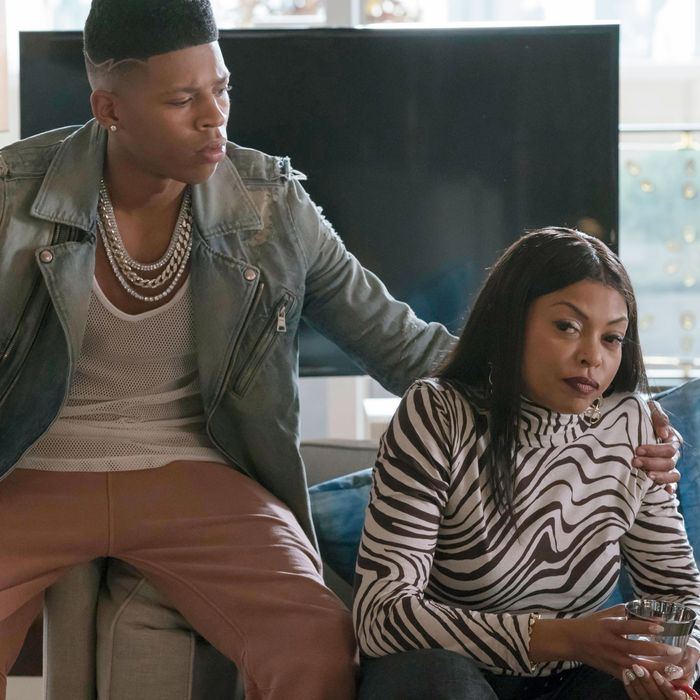 EMPIRE: Pictured L-R: Bryshere Gray and Taraji P. Henson in the