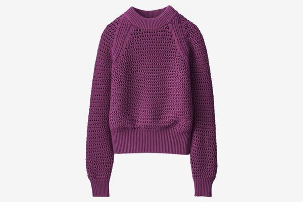 Women U Mesh Oversized Sweater