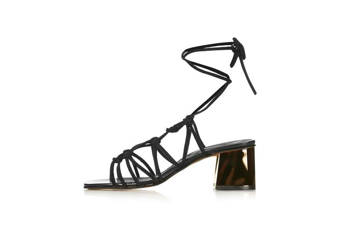 8ab4b5947 Wear these lace-up heels with a short black dress and you re set for any  event.