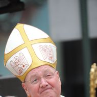 Archbishop Timothy Dolan is seen during his first service and Mass of Installation at St. Patrick's Cathedral April 15, 2009 in New York City. Dolan, 59, the former Milwaukee archbishop, is taking over the nation's second-largest diocese from Cardinal Edward Egan who is retiring after nine years.