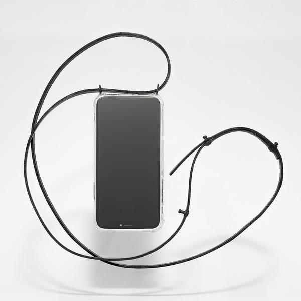 Knok Luna Phone Necklace Leather All Black