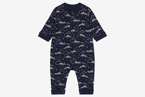 Uniqlo Newborn Long-Sleeve One-Piece