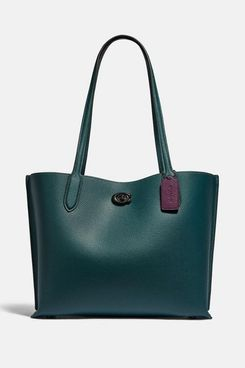 COACH Willow Tote With Signature Canvas Interior