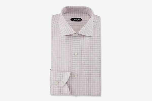Slim-Fit Grid Check Dress Shirt