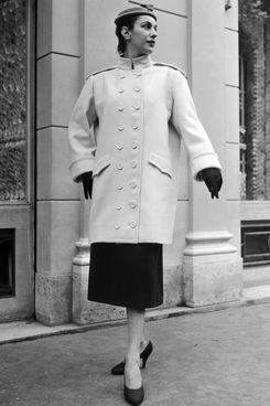 A Cheviot coat in 1954.