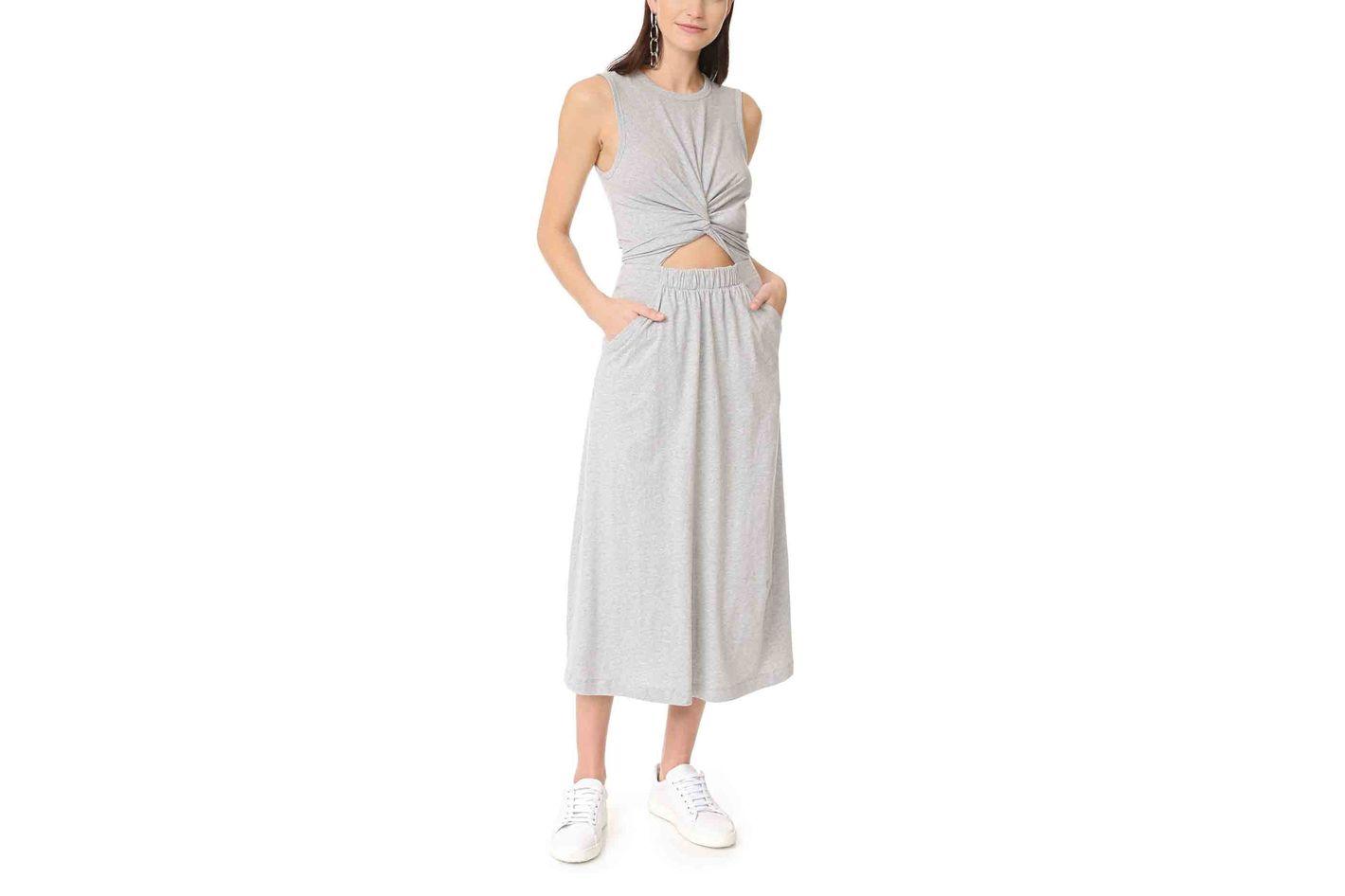 T by Alexander Wang Front Twist Muscle Dress