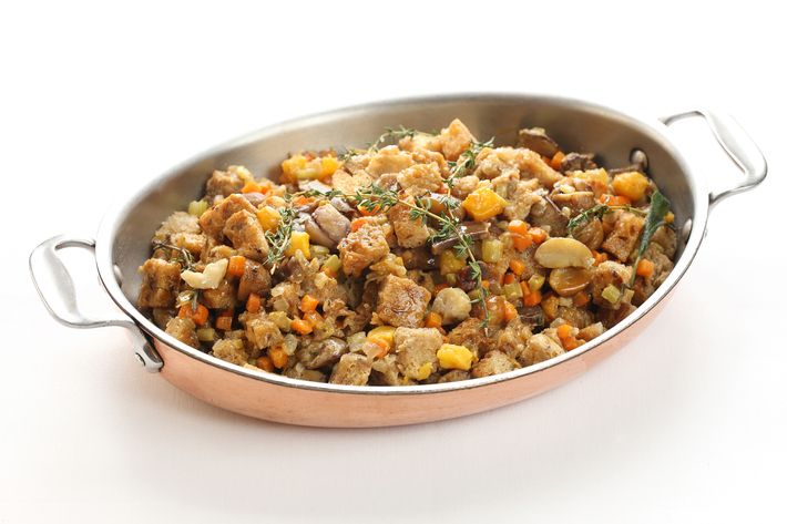 Chestnut-and-cornbread stuffing.