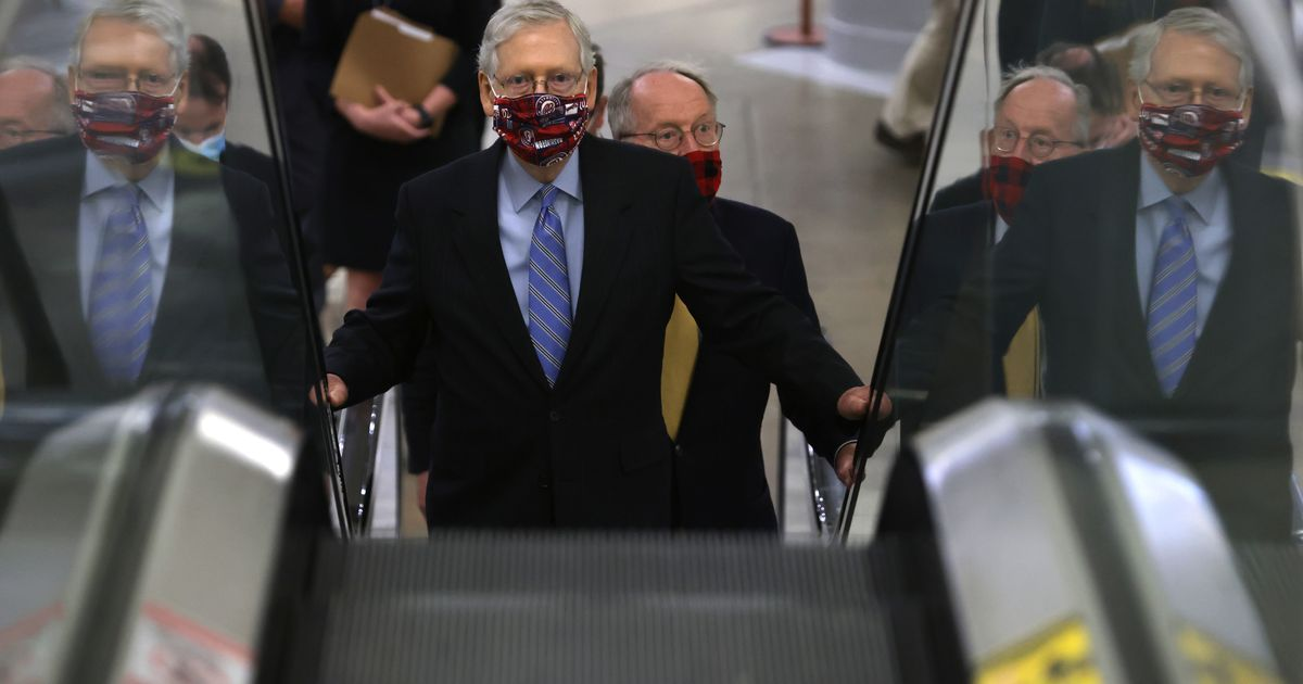 At-Risk Republicans Ask McConnell to Get Stimulus Deal or Suspend Senate Recess