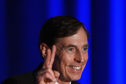 LOS ANGELES, CA - MARCH 26:  Former CIA director and retired four-star general General David Petraeus applauds as he makes his first public speech since resigning as CIA director at University of Southern California dinner for students Veterans and ROTC students on March 26, 2013 in Los Angeles, California. Petraeus apologized in his speech for his actions that lead to him resigning from the CIA.  (Photo by Kevork Djansezian/Getty Images)