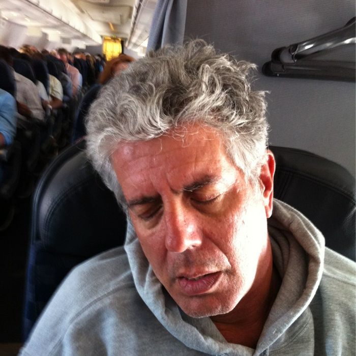 Bourdain, no doubt during one of the films.