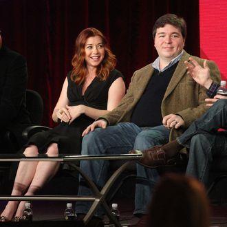 Actor Jason Segel, actress Alyson Hannigan, co-creators Carter Bays and Craig Thomas of the television show