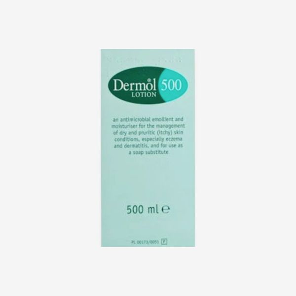 Dermol 500 Lotion 500ml, £9.99 and Dermol Cream 500g