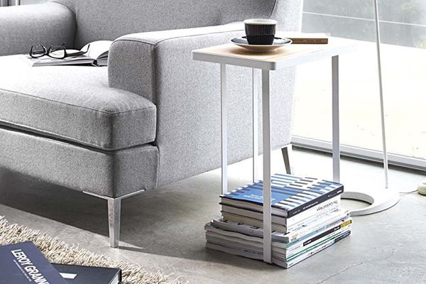Yamazaki Home Tower Magazine Rack Accent Table