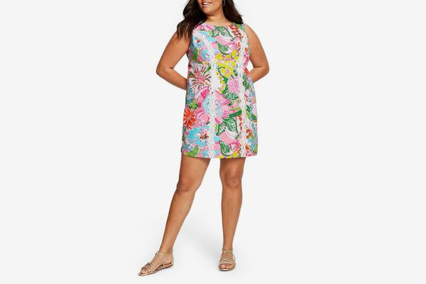 Lilly Pulitzer for Target Plus Size Nosey Posie Sleeveless Round Neck Shift Mini Dress