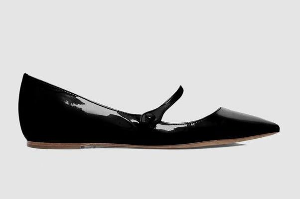 Tabitha Simmons Hermione Black Patent Flats