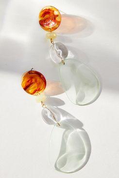 Anthropologie Glass Charm Drop Earrings
