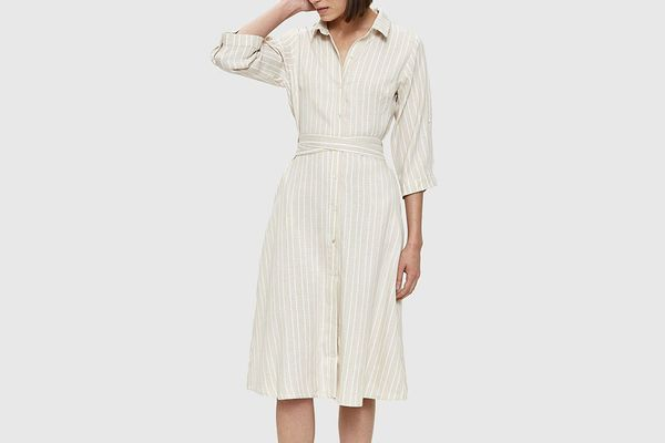 Farrow Paulie Midi Dress in Taupe