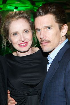 "Director and screenwriter Richard Linklater, Julie Delpy and Ethan Hawke attend the Tribeca Film Festival 2013 After Party ""Before Midnight"" sponsored by Heineken on April 22, 2013 in New York City."