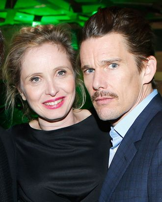 Director and screenwriter Richard Linklater, Julie Delpy and Ethan Hawke attend the Tribeca Film Festival 2013 After Party