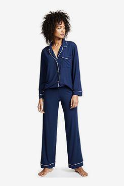 Eberjey Gisele Two-Piece Long Sleeve Pajama Set