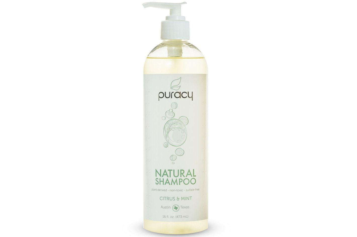 Puracy Natural Daily Sulfate-Free Hair Shampoo, Citrus & Mint