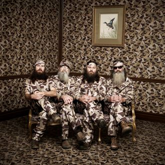 Phil, Jase, Willie & Si Robertson of the A&E series DUCK DYNASTY Photo Art Streiber/A&E?2013 A&E Networks