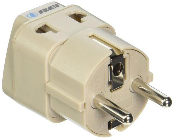 OREI European Plug Adapter Schuko Type E/F for Germany, France, Europe, Russia