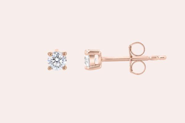 Noémie Round Diamond Stud Earrings