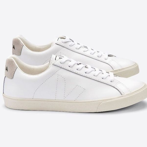 Veja Esplar white leather trainers