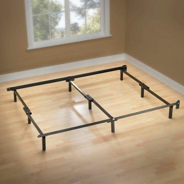 19 Best Metal Bed Frames 2020 The, Bed Frame Box Spring Queen Folding Metal Mattress Foundation