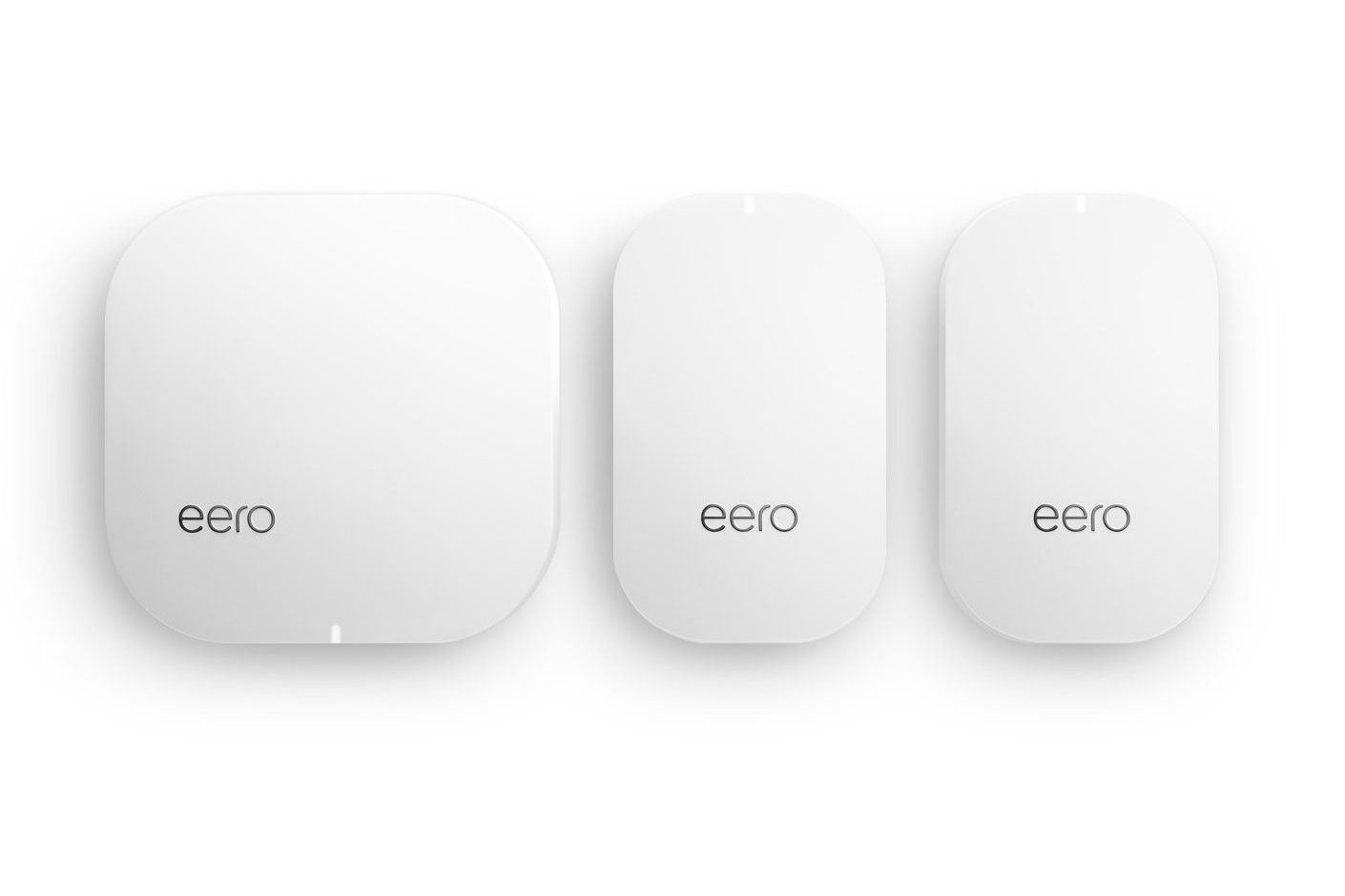 Eero Home WiFi System (1 Eero Base Unit and 2 Eero Beacons)