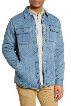 Faherty Reversible Organic Cotton Shirt Jacket