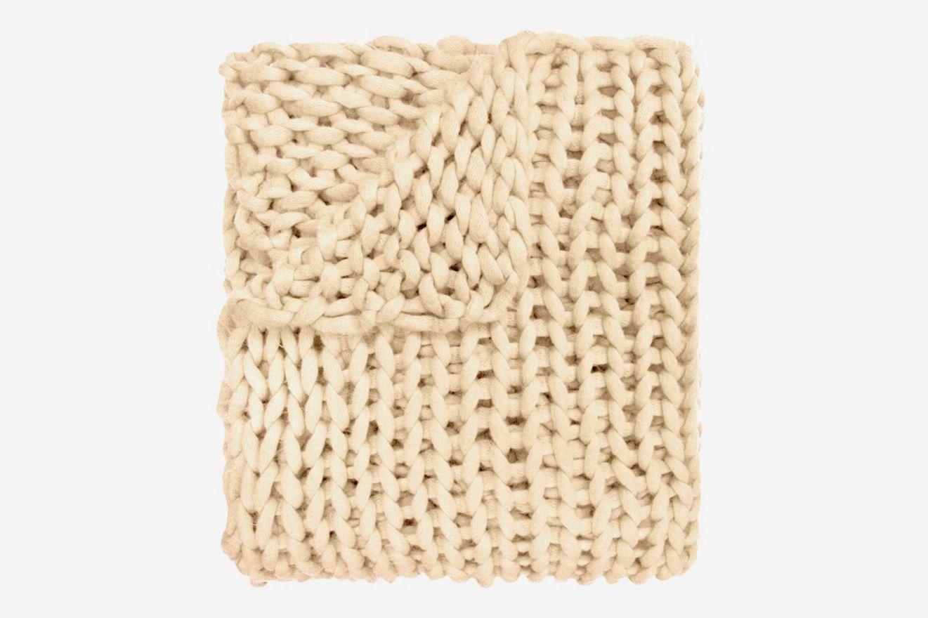 Gracie Oaks Charest Chunky Knitted Acrylic Throw