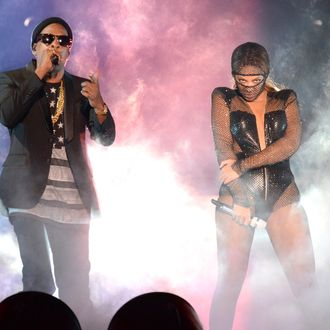 MIAMI GARDENS, FL - JUNE 25: Jay-Z and Beyonce perform during opening night of the