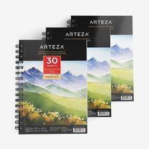 "ARTEZA 5.5x8.5"" Watercolor Pad, Pack of 3"