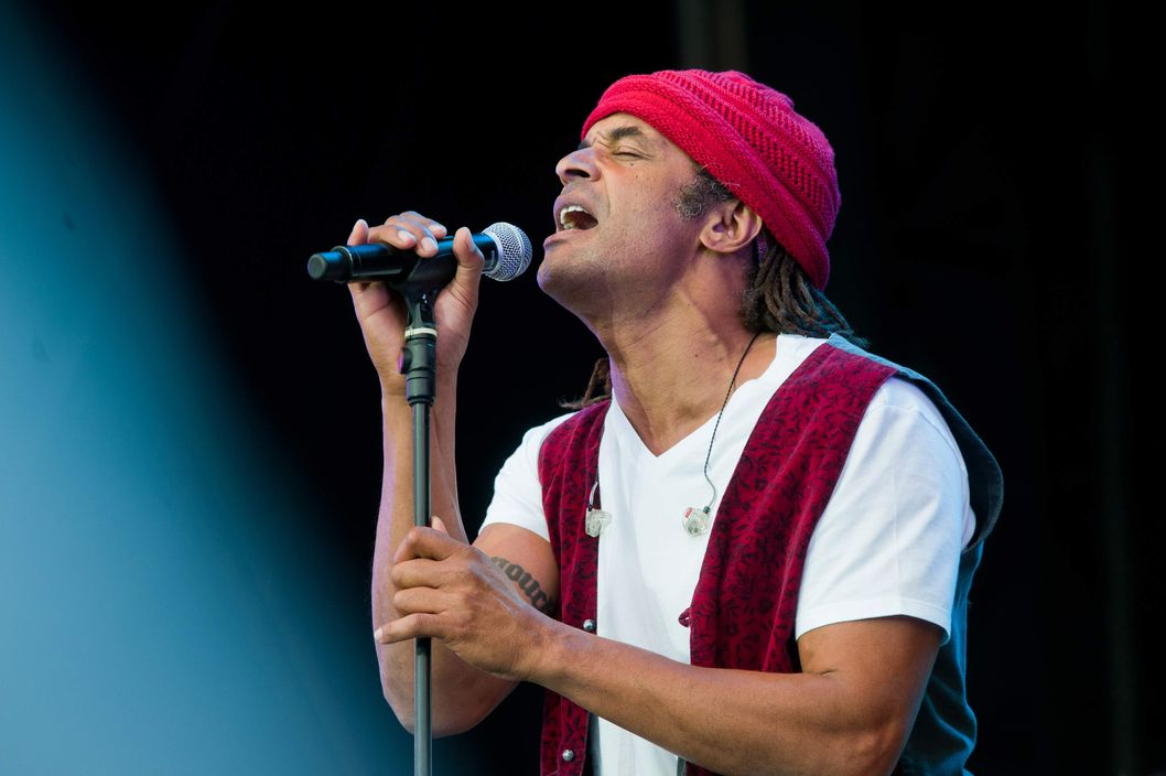 LA COURNEUVE, FRANCE - SEPTEMBER 18: Yannick Noah performs during day 3 of La Fete de l'Humanite on September 18, 2011 in La Courneuve, France. (Photo by Samuel Dietz/Getty Images)