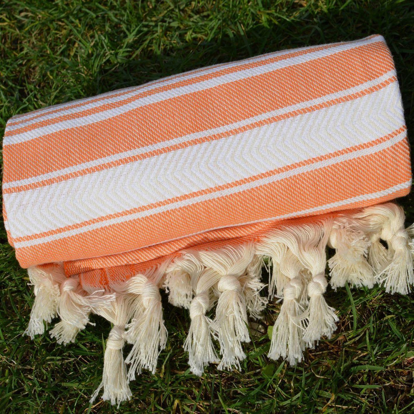 Dandelion Textile Basic Pattern Naturally-Dyed Cotton Turkish Towel Peshtemal