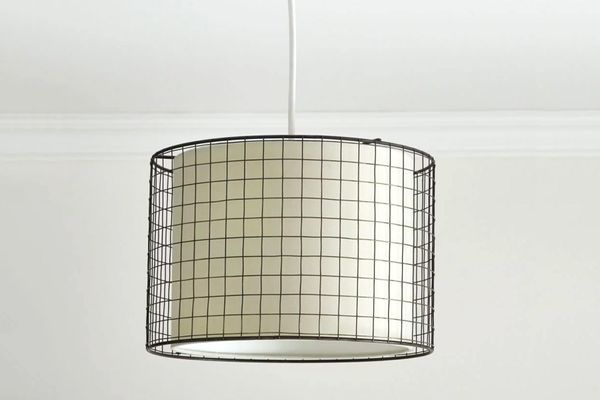 Wire Cage Hessian Light Shade