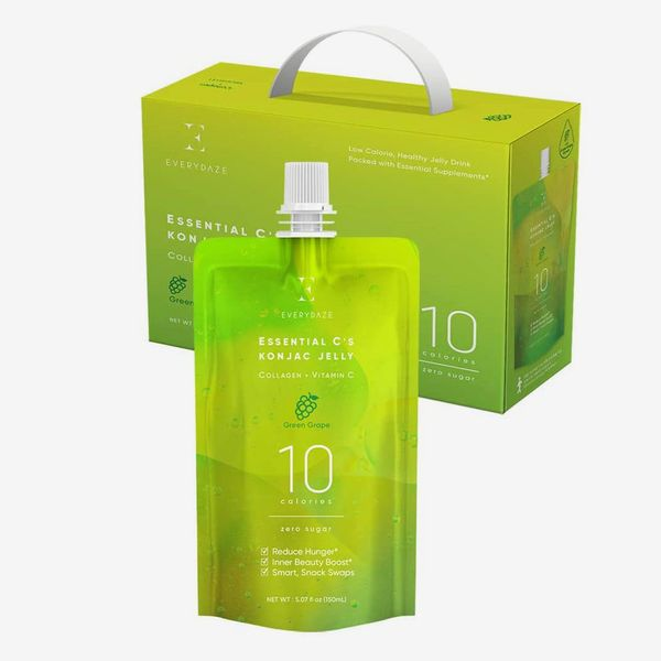 Everydaze Essential C's Collagen + Vitamin C Konjac Jelly, Green Grape (10-Pack)
