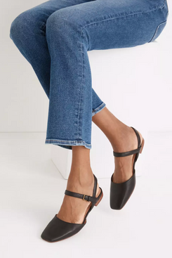 Madewell The Jeanne Slingback Flat in Leather
