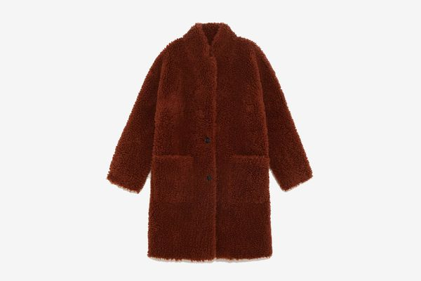 Zara Double-Faced Faux Fur Coat