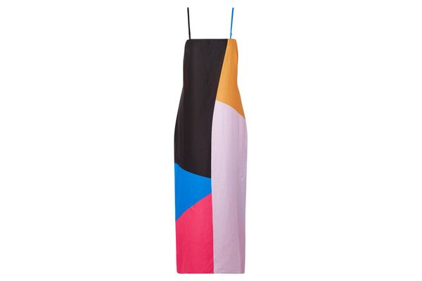 MARA HOFFMAN Sena color-block organic cotton-voile maxi dress