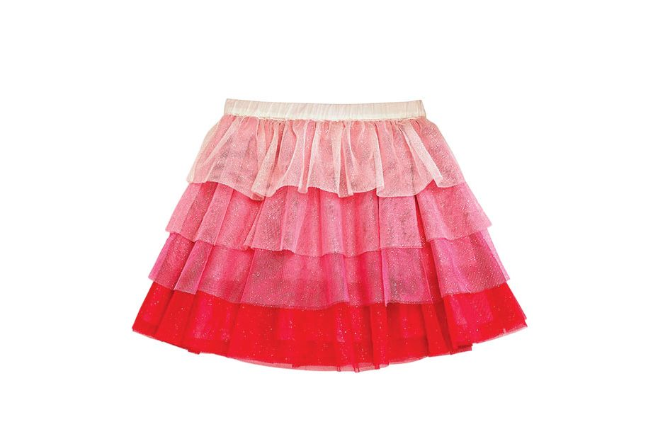 Girls' Tiered Glitter Tutu Skirt
