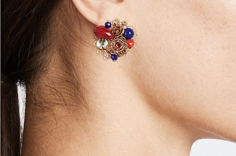 Mercedes Salazar Petite Passiflora Clip On Earrings